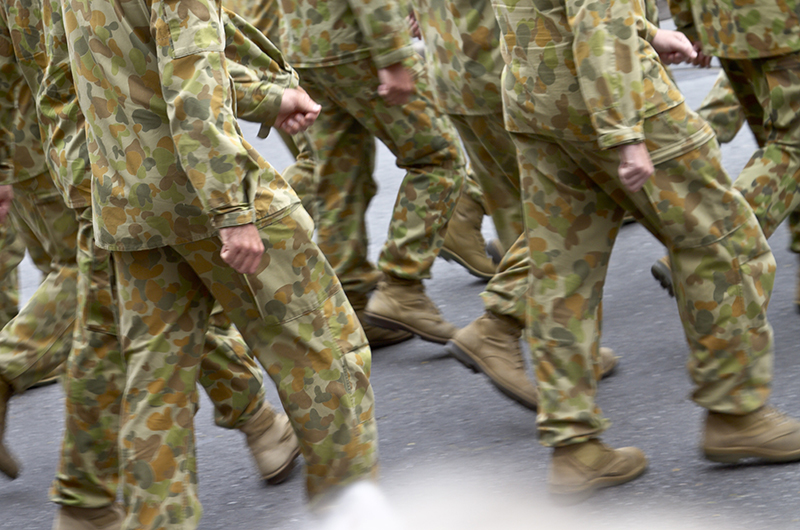 Australian defence force marching