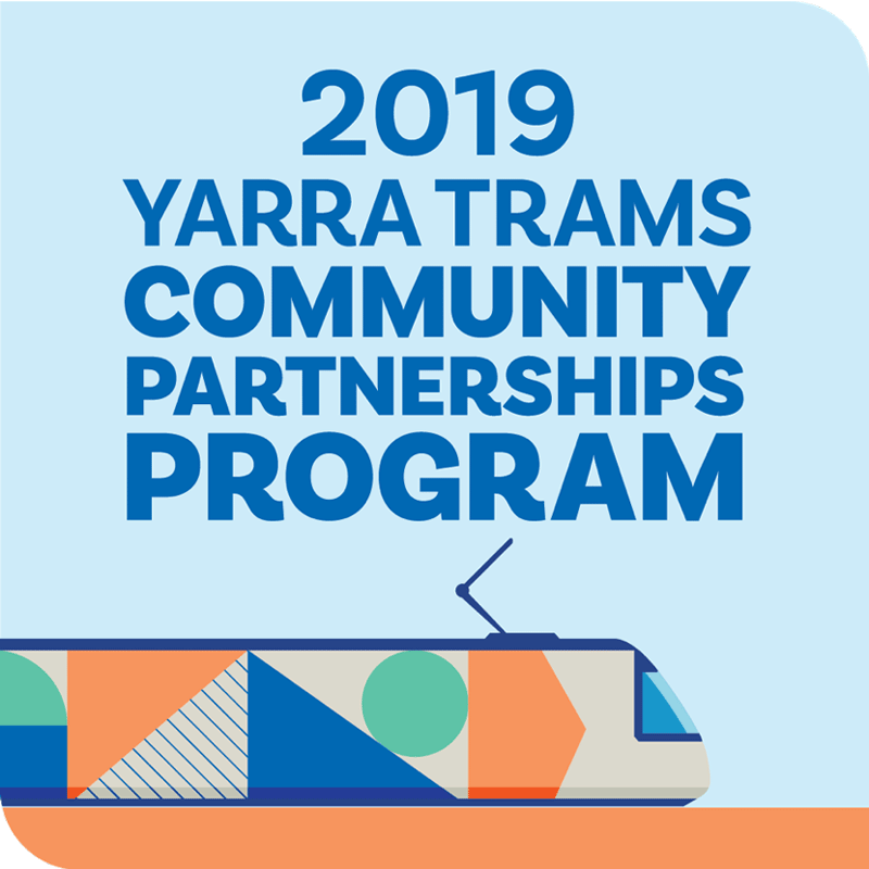 Yarra Trams 2019 Community Partnerships Program logo